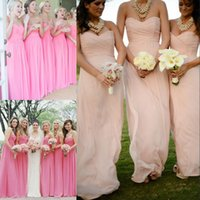 Wholesale Colorful Sweetheart Prom Dresses - Under $60 Cheap Bridesmaid Dresses Real Image Chiffon Floor Length A Line Colorful Prom Dresses Zipper Back Sweetheart Wedding Guest Dresses