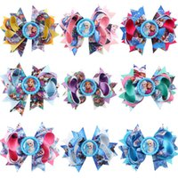 Wholesale Cute Childrens Girls Hair - Froze Baby Bow Headband Wearing Girls Childrens Hairbands Bandanas Fashion Cute Headdress Hair Band Hair Accessories Free shipping