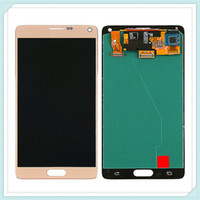 samsung note screen digitizer al por mayor-Pantalla LCD original Pantalla táctil Asamblea digitalizador para Samsung Galaxy Note 4 N910 N910A N910T N910C N910F Panel de vidrio táctil libre de DHL