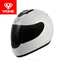 Wholesale Motorcycle Helmet Electric Visor - 2017 New Eternal YOHE full face motorcycle helmet electric bicycle motorbike helmets made of ABS and PC visor for men women Model YH993