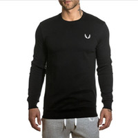 bodybuilding suits Australia - Sport New Autumn Sports Hoodies Thin Solid Color Bodybuilding and Fitness Pullover Hoodies Sweatshirts Men's Sportswear suit with joggers