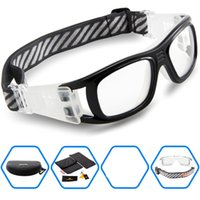 Wholesale Basketball Dribbling - Wholesale-2016 Protective Men's Sports Goggles Eyewear Glasses for Adult Basketball Football Soccer Hockey Rugby Tag Dribble eyeglasses