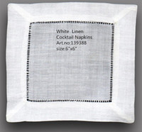Wholesale Home Textiles Table Napkin NEW Tablemat quot x6 quot Square Elegant white Linen Cocktail Napkins is dress up any cocktail party