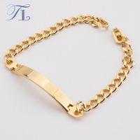 Wholesale Gold Id Bracelets For Men - TL Stainless Steel Gold Color Identity Bracelets For Men Mature Classic Fashion Business Style Bracelets Mexico Men Jewelry