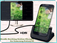 Wholesale Docking For Galaxy S4 - Promotional Desktop Charging Cradle HDMI Docking Station For Galaxy S4