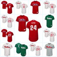 Wholesale Dry Red Clay - 2017 Philadelphia Phillies Jersey 17 Pat Neshek 19 Tommy Joseph 21 Clay Buchholz 23 Aaron Altherr Flexbase Onfiled Jersey