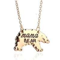 Wholesale Animal Fasion - Personalized Mama Bear Polar bear necklace Animal Pendant Necklaces Mother Necklace Mothers Day Gift For Mom fasion jewelry Drop Ship 161893