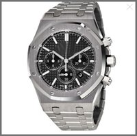 Wholesale Sapphire Royal - Royal Oak Chronograph Black Dial Men's Watch 26320ST.OO.1220ST.01