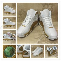 2017 Air Retro 13 DMP Calçados para Basquete Masculino Gold Gold Gold Retros 13s XIII High Quality Men 98 Defining Moments Sports Trainers Sneakers 41-47