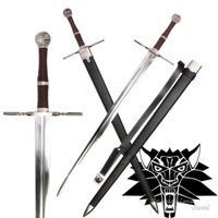 Wholesale Videos Art - 2016 New Arrival Medieval Sword Stainless Steel For Video Game The witcher3:Wild Hunt Replica Ciri's Blade Full Tang Supply