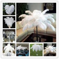 Wholesale Wedding Centerpieces 18 Inch - 16-18 inch (40-45cm)Ostrich Feather Plume white,Wedding centerpieces table centerpiece