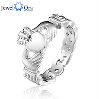 Wholesale Skull Rings Lady - Brand Designer Ladies Claddagh Stainless Steel Skull Rings For Women New ( Ri101274) 17401