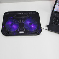 Wholesale Air Cooler Stand - Wholesale- Free Shipping Laptop Cooling 2 LED Fan USB Notebook Laptop Stand Rack Cooling Cooler Base Pad