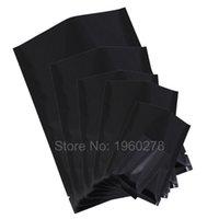 "Wholesale Wholesale Food Powders - 8x12cm (3.1x4.7"") w  Tear Notches recyclable black mylar bag aluminum foil flat open top pouch sachets food powder"