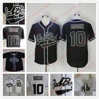Mens B.I.G. # 10 Biggie Smalls Black Jersey Le Film Notorious Bad Boy Blanc Boutons De Baseball Film Boutons pas cher Jerseys Taille S-3XL