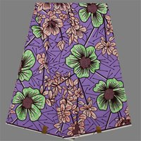 Wholesale Amazing Fabric Flowers - Amazing lady dress cloth purple with flower pattern African wax fabric for dress SWV56 (6yards pc)