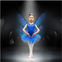 Wholesale Skating Dress Child - Q228 Girls Kids Toddler Dancewear Leotard Ballet Tutu Skate Costume Children Dance Dress 3-7 Y Free Shipping