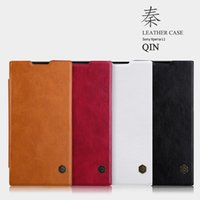 Wholesale Fine Packages - Nillkin QIN Series leather Case for Sony Xperia L1 luxury cover case use Fine leather 360 degree protection with Package