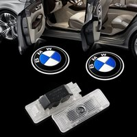 Wholesale 528i E39 - 2x car-styling LED Car Lights laser door logo projector light for old BMW X5 5series Z8 E53 E39 E52 Welcome Ghost Shadow Lamp