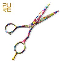 Wholesale Tools Hair Cut Sale - Styling Tools Scissors 2016 New Arrival Cutting Scissors Colorful Flower Titanium Hot Sale Hair Shears Hair Tools Free Shipping