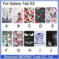 Wholesale S3 Cases Floral - High Quality Cover For Samsung Galaxy Tab S3 9.7 inch Stand Leather Case Print Tablet Cover