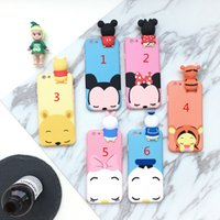 Wholesale Donald Duck 3d Case - Fashion 3D Cute Mickey Minnie Mouse Donald Duck Case For iphone 6 Plus Cartoon Case For iphone 7 6s Plus Soft Silicon Cover Case
