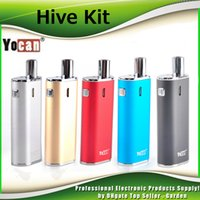 Wholesale Genuine Herbal - Original Yocan Hive 2in1 Kit for Wax & Coil 650mah Battery Box Mods BUD CE3 O Pen Atomizer AIO herbal vaporizer 100% Genuine DHL Free