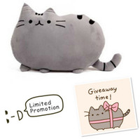 Wholesale White Sofa Pillows - Pusheen Cat big pillow cushion biscuits cat plush toy doll birthday gift pillows decorate sofa home decor Pusheen Free Shipping