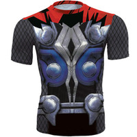 Wholesale super hero shirts - Thor Odinson T shirt New arrive short sleeve gown Super hero casual tees Street printing clothing Unisex cotton Tshirt