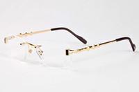 óculos escuros venda por atacado-Cool oculos de sol alta qaulity armação de metal óculos de sol das mulheres designer de marca óculos de chifre de búfalo condução eyewear 3 estrelas marrom azul claro