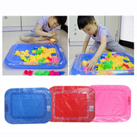 Wholesale Plastic Play Table - Wholesale- 2017 Inflatable Sand Tray Castle Sand Table Kids Children Indoor Play Mud Sand Toy MAR15_15