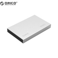 Wholesale Orico Hard Drive Enclosure - Wholesale- ORICO 2518S3-SV Aluminum USB3.0 5Gbps 2.5 inch Hard Drive Enclosure Support 7mm & 9.5mm (hard drive not include)- Silver