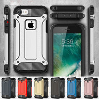 Wholesale Iphone5 Slim Cover - Armor Case for iPhoneX Rugged Soft TPU Phone Back Cover for iPhone5 5S SE 6 6S 7 8 8plus iphoneX Slim Military iPhone8 6Plus 7Plus Hybrid
