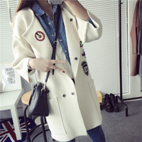 Wholesale Thick Computer Sleeve - Wholesale-2016 Fashion Women Long Knitted Cardigan Women Sweater Slim Thick Woman Ponchos Casual Outwear Cardigans Hot Sale C173
