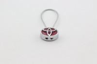 Wholesale Toyota Key Chain Rings - Car Keychain Fob KeyRing Key Chain Key Ring Toyota Camry Corolla CROWN Highlander 3D Logo