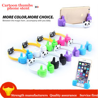 Wholesale desktop phone holders online – Originality Mobile Phone Holder Thumbs Modeling Stand on desktop Cute bear Bracket lazy mini Holder Mount for phone Samsung xiaomi Tablets