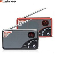 Wholesale Tf A3 - Wholesale-TECSUN A3 Pocket Size TF Card MP3 Player Radio FM Stereo Radio A3 Portable Digital Audio Radio Digital Demodulation