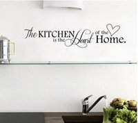 Home Wall Decor Black Kitchen Quotes Removable Mural Art Wall Sticker Decy Decalagem de parede