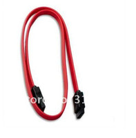 Wholesale Hd Ata - 100pcs lot # 40cm Red Serial ATA SATA HDD Hard Drive HD Data Signal Cable Lead Up to 150MBps Free Shipping 0001