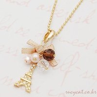 Wholesale Tibet Jewelry For Sale - YANA Jewelry Fashion Gold Plated Bow Tower Statement Necklace For Woman 2015 New necklaces & pendants Sale N21