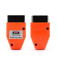 4d 4c llave toyota al por mayor-Para Toyota Smart Key fabricante 4C 4D chip para Toyota Smart Keymaker OBD2 Eobd TRANSPONDER TECLADO PROGRAMADOR Envío gratis