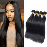 Wholesale 8inch Straight Human Hair - 8A grade Brazilian virgin hair Straight 8inch-26inch 4pcs lot Unprocessed brazilian straight human hair silky straight thick bundles