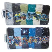 Wholesale character panties - 6pcs lot Hotsales Children Underwear Boys cotton Blends Panties Hero Cartoons characters Thermal Transfer Briefs Underpants