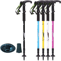 Wholesale 2017 Pioneer Outdoor Climbing Stick High strength aviation aluminum alloy Adjustable Canes Nordic Walking Poles Trekking Tool