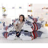 Wholesale Giant Stuff Dog Toys - Giant Stuffed Dogs Animal Soft Toys Cartoon Plush Husky Brinquedo Menino Cute Pillow Oyuncak Bebek Gift For Baby Girl 70G0348