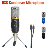 Wholesale Pc Video Record - MK-F200TL Professional Microphone USB Condenser Microphone for Video Recording Karaoke Radio Studio Microphone for PC Computer