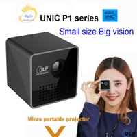 Wholesale Hdmi Pocket Projector Wholesale - Original UNIC P1 series Wireless Mobile Projector Support Miracast DLNA Pocket Home Movie Projector Proyector Beamer Battery