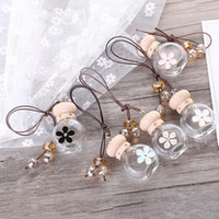 Wholesale Perfume Hanging - new pattern automobile Rearview mirror Pendant Car perfume Empty bottle hanging car Exquisite decoration F20171172