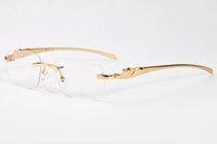 manda modası toptan satış-Erkekler kadınlar için 2017 moda güneş gözlüğü marka tasarımcısı metal bacaklar yarı çerçevesiz düz güneş gözlükleri unisex moda buffalo boynuz gözlük gafas de