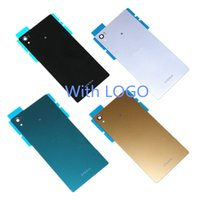Wholesale Nfc Battery - Replacement Battery Door Back Glass Cover Housing with NFC for Sony Xperia Z5 5.2'' E6603 E6653 E6633 E6683